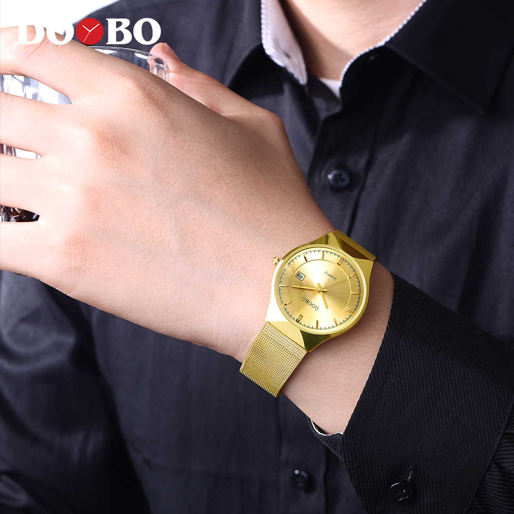 Спортивные мужские часы DOOBO, Лидирующий бренд, Роскошные водонепроницаемые спортивные часы для мужчин, ультра тонкие кварцевые часы с циферблатом, повседневные Relogio masculino D035