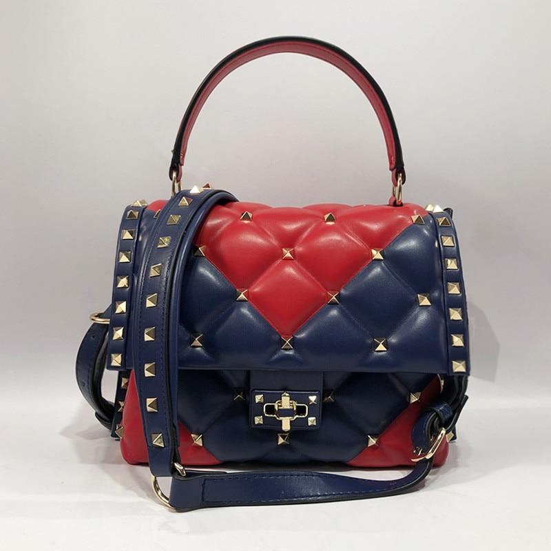7 Color Luxury Fashion Famous Designer Women Purse and Handbags Rivet Diamond Lattice Shoulder Bags7 Color Luxury Fashion Famous Designer Women Purse and Handbags Rivet Diamond Lattice Shoulder Bags