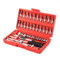 Высокое качество 46 шт. сочетание набор торцевых ratchet гнездо набор инструментов ремонт автомобилей набор инструментов