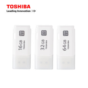 TOSHIBA 100% Original USB Flash Drive USB3.0 16GB 32GB 64GB Flash Disk U301 Real Capacity Plastic Memory Pendrive