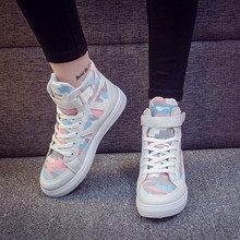 Fashion Mixed Color White Sneakers Women Canvas Shoes Autumn