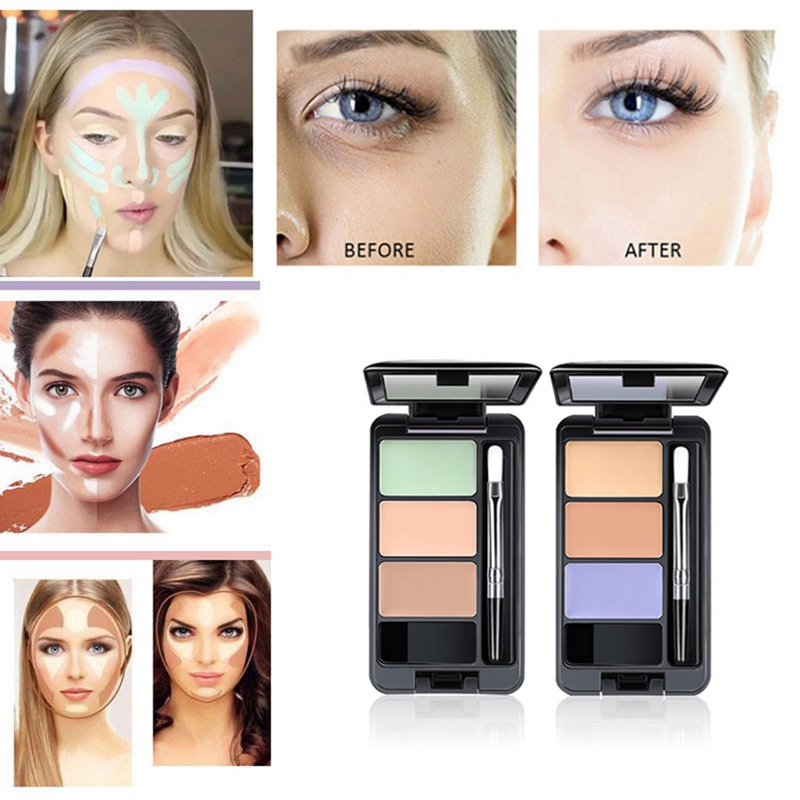 3 Colors Face Concealer Palette Cream Contour maquillaje corretivo maquiagem new