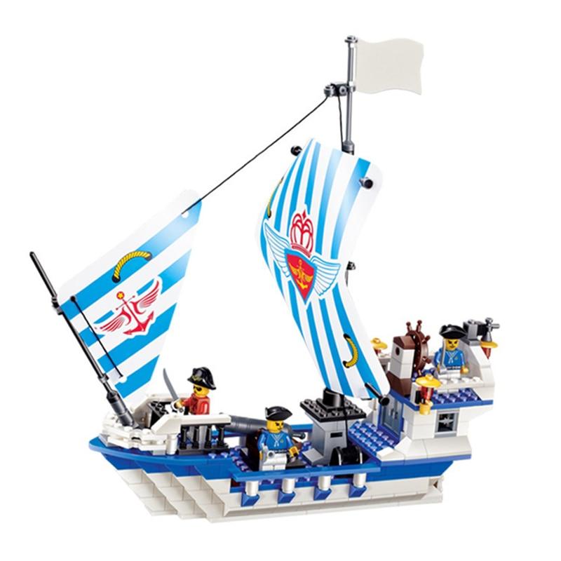 301pcs Pirate Series Dauntless Ship Plastic Spelling Building Blocks Toy for Boys Toys Kids Woods Children Toys K0307-30005 8 in 1 military ship building blocks toys for boys