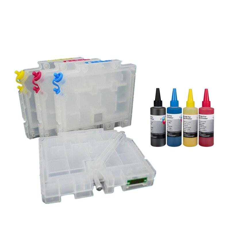 1 Set 4 Kleuren Hervulbare Gc41 Inktcartridge Met Arc Chip En Sublimatie Inkt Voor Ricoh Gc41 Voor Ipsio Sg 3100/2100/2010l/7100