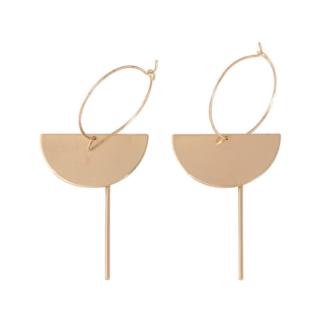 2018 Fashion Gold Color Punk Simple Half Round Bar Earrings For Women Ear Hanging Earrings Jewelry.jpg 640x640 - 2018 Fashion Gold Color Punk Simple Half Round Bar Earrings For Women Ear Hanging Earrings Jewelry Geometry Brincos Bijoux Femme