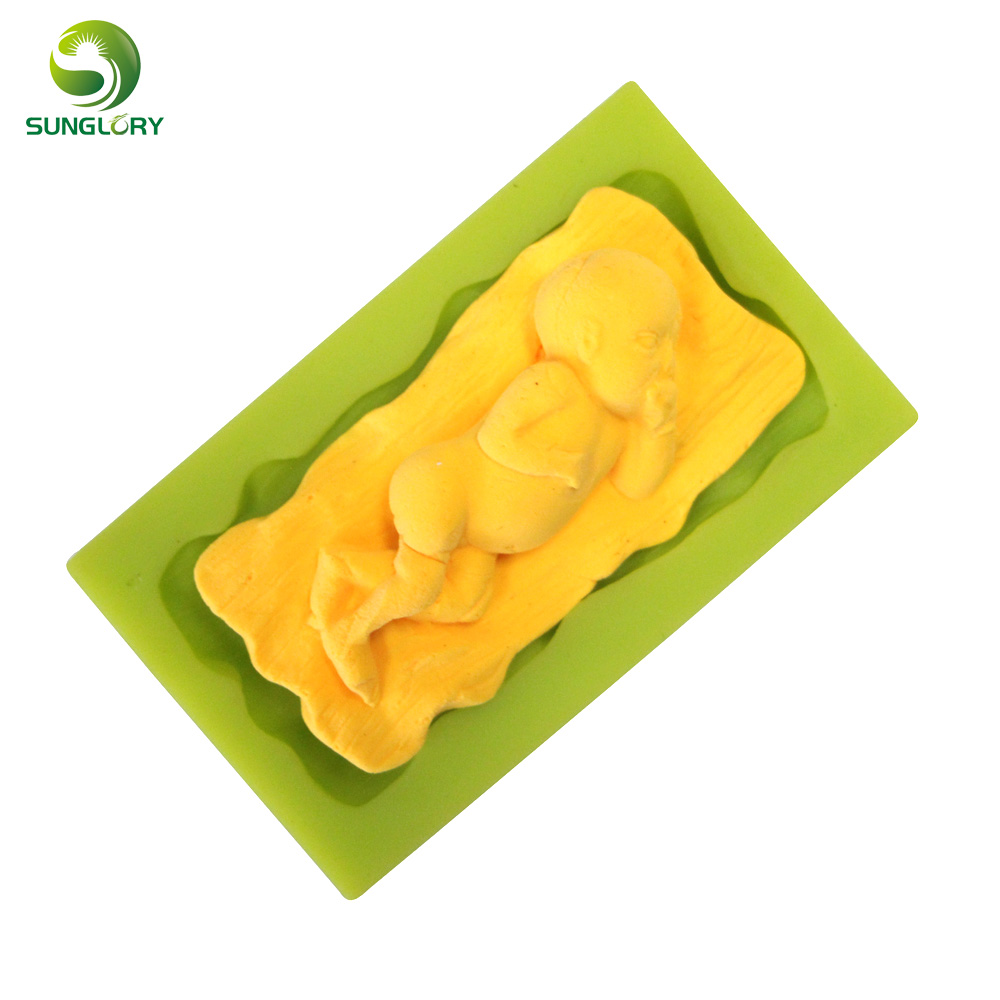 Sleeping Baby Shaped Silicone Mold 3D Non stick Infant Fondant Silicone Cake Mold For Baking Paste Americana Cake Tools Kitchen in Cake Molds from Home Garden
