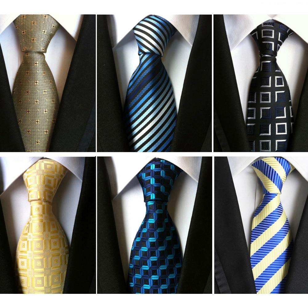 Silk 6cm Business Striped Wedding Stripe Neckwear Tie For Men Necktie Cravat