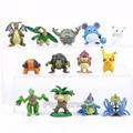 Picar Monstros 13 pçs/set Marill Mew Pikachu Dragonite Croconaw Golem Exeggutor Tropius Pidgeotto PVC Figuras Brinquedos Bonecas 3 ~ 5 cm