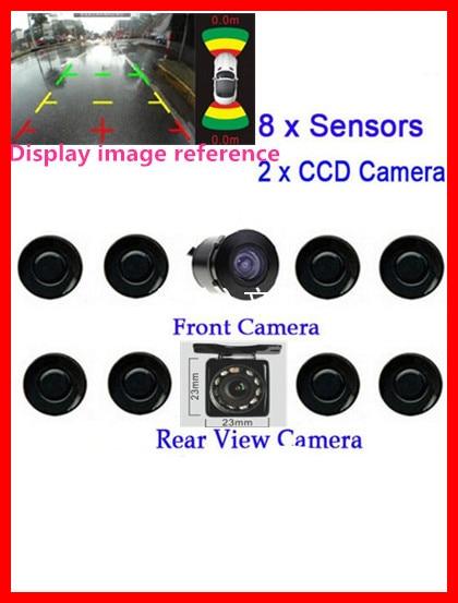 8 sensor parking Assistance front+back car detector car parking sensor monitor auto video front back camera blind spot parking car front