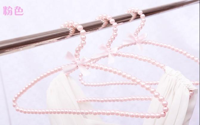 Sainwin 5ks / lot 38cm dámský plastový věšák perlový věšák na šaty Oblouk ve tvaru růžového stojanu