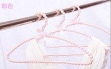Sainwin 5pcs/lot 38cm women plastic hanger pearl  Hangers for Clothes Arc-shaped for Pink Rack