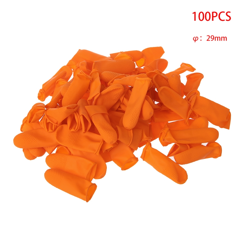 Image 2 - 100pcs Protective Antislip Fingertips Antistatic Gloves Latex Rubber Finger Cots-in Safety Gloves from Security & Protection