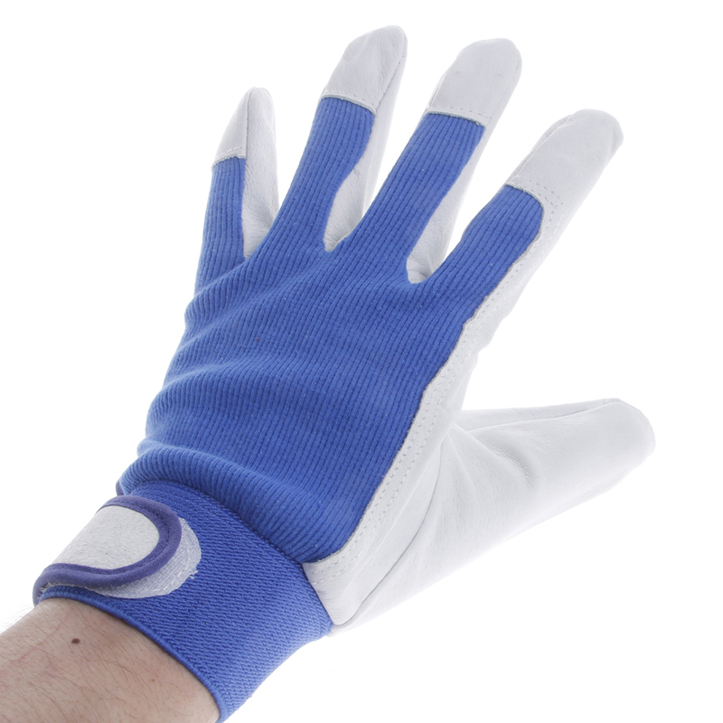 1Pair Pigskin Leather Gloves Wear Resistant Driving Working Repair Safe Gloves