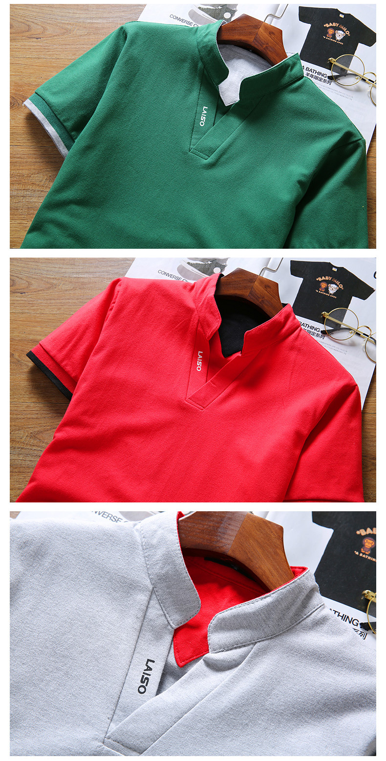 Cotton Men Polo Shirt Tops Fashion Brand Plus Size Short Sleeve Black White Polo Shirt Homme Camisa 39