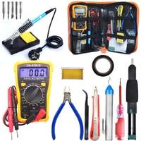 60W Adjustable Temperature Soldering Iron Kit Upgraded Welding Kit For Various Repair Digital Multimeter Screwdriver Tools