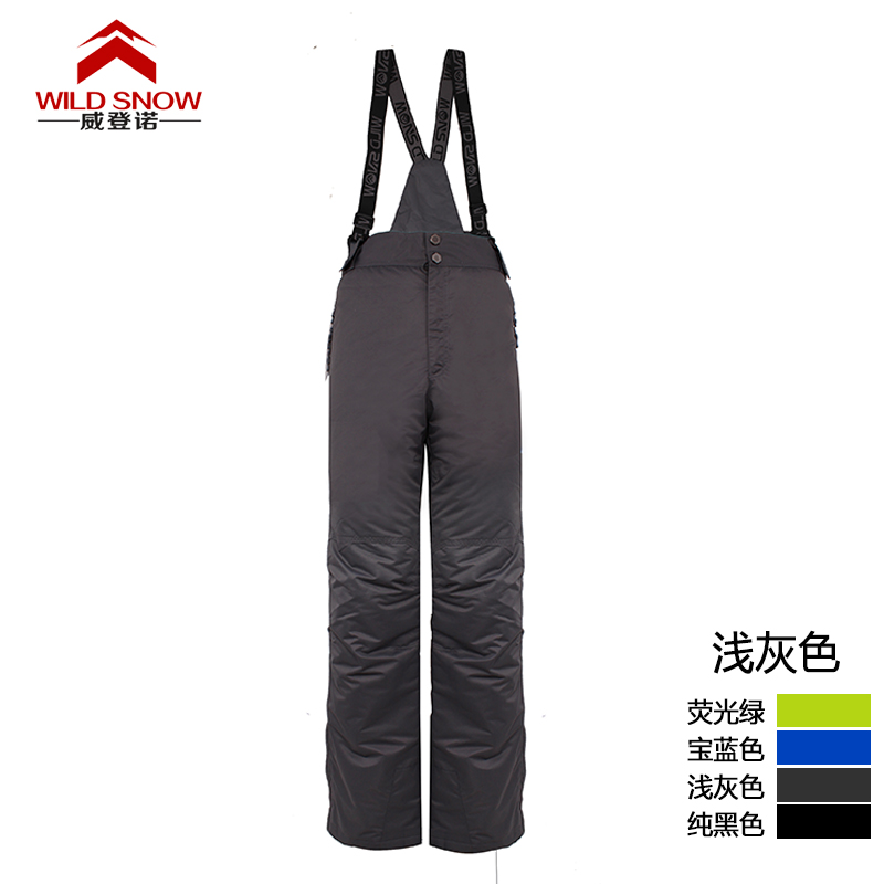 Men's grey suspender ski pants men padded snowboard pants male outdoor waterproof sports trousers skiing pants 4 colors 5 sizes цена 2017