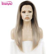 Perruque Lace Front Wig synthétique lisse ombré Imstyle