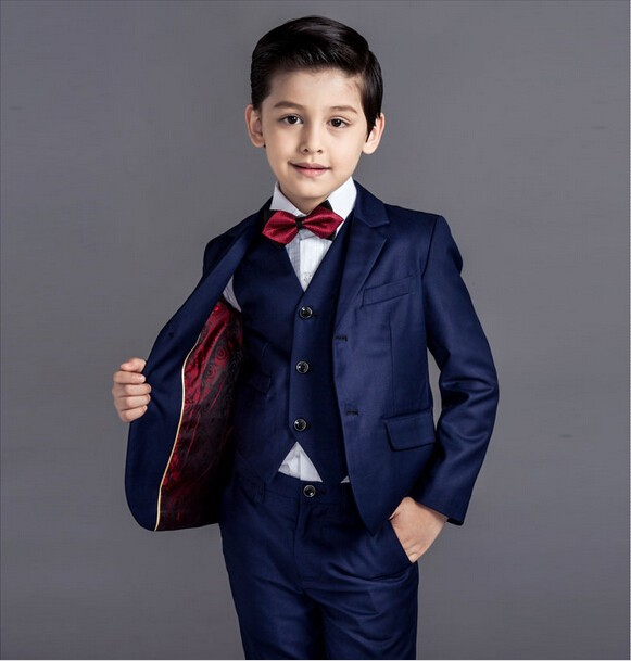 140e7d3a09c 2015 baby kids boys blazers blue plaid clothing boys suits for weddings  attire formal wedding boy children suit flower boy dress-in Suits from  Mother   Kids ...