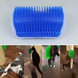 Coin Pet chat brosse peigne fournitures chat appareil de Massage auto-toiletteur plastique gratter poils arc masseur Pet chat brosse peigne