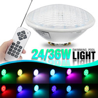 24W/36W LED Swimming Pool Light RGB Waterproof IP68 12v Colors Changing with Remote Control for Pond or Aquarium