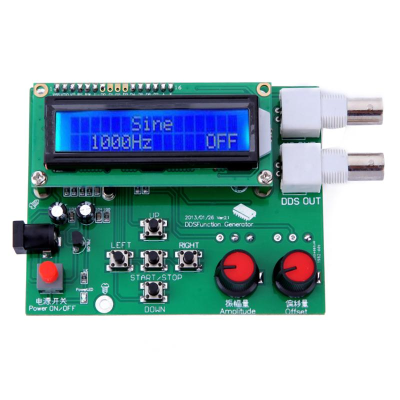DDS Function Signal Generator Module Sawtooth Triangle Wave Sine Square Sawtooth Wave Kit 1Hz-65534Hz DC 7V-9V LCD Display kwx03 square wave signal source frequency dutycycle adjustable 0 1hz 34khz digital display
