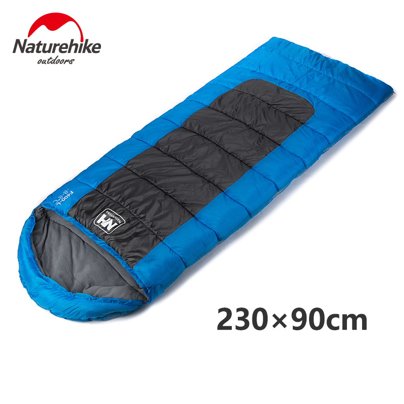 Ultralight Portable Envelope Cotton Sleeping Bag Camping Sleeping Bag Outdoor Camping Travel 3 Colors L Size -Naturehike kingcamp envelope cotton lazy bag portable ultralight flannel lined sleeping bag 2 season for camping backpacking