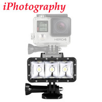 Underwater 30m Waterproof High Power Dimmable LED Video POV Flash Fill Light Night Light For GoPro