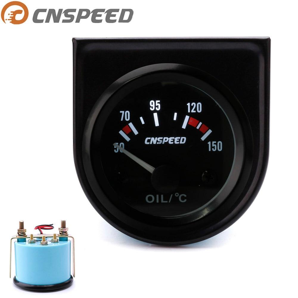 """6035BL 2/"""" 52mm Oil Temperature Meter Gauge 50-150 Celsius Degree Blue LED  12V"""