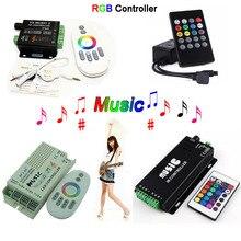 Wholesale 20 Keys 24 2.4G music controller DC12-24V RGB Sound Sensitive remote 2 for 5050 3528 led strip light lamp