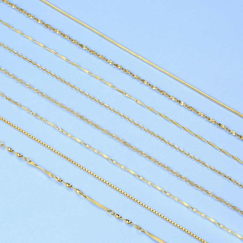 Martick Grundlegende Lange Reine 925 Sterling Silber Gold/Silber/Rose Gold Farbe Schlange Kette Für Frau 50/ 55/60cm Kette Halskette GSC31