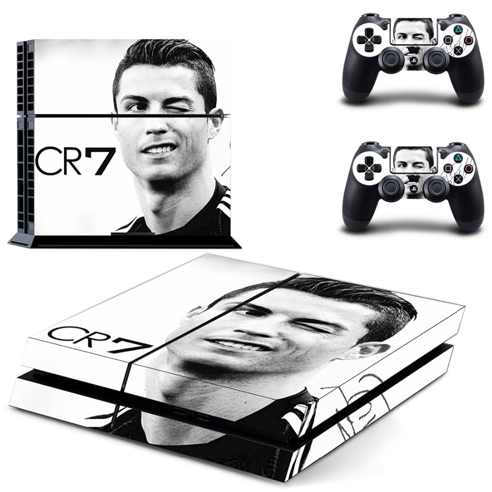New Cristiano Ronaldo Cr7 Decal Ps4 Skin Sticker For Sony Playstation 4 Console Protection Film +2pcs Controllers Good Heat Preservation