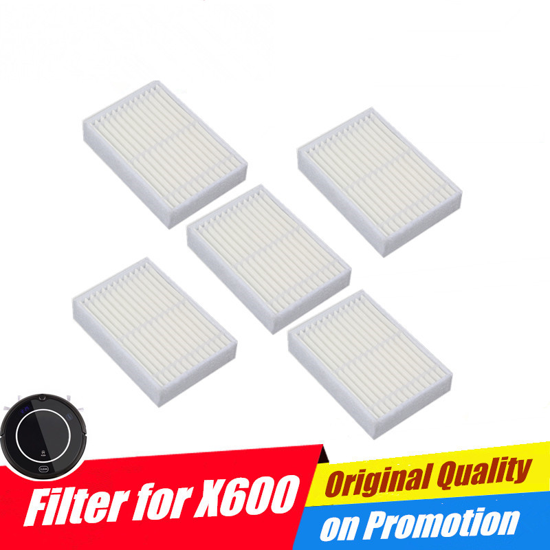 100% True 6pcs Replacement Hepa Filter For Panda X600 Pet Kitfort Kt504 For Robotic Robot Vacuum Cleaner Accessories Latest Technology Home Appliance Parts