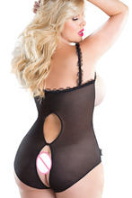 Hot exposed breasts bow erotic lingerie