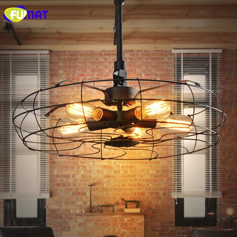US $284.8 11% OFF|FUMAT Pendelleuchten Loft Lampe Fan Form Leuchten Für  Hohe Decken Europäischen Vintage Fan Droplight Esszimmer Beleuchtung-in ...