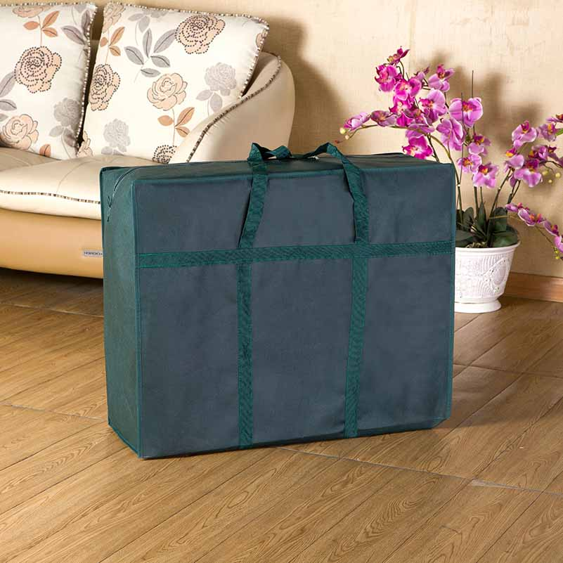 L size Large Capacity Moving Travel Bag Moving Luggage Packing Bag Folding Waterproof Non Woven Bag Quilt Tote Handbag in Travel Bags from Luggage Bags