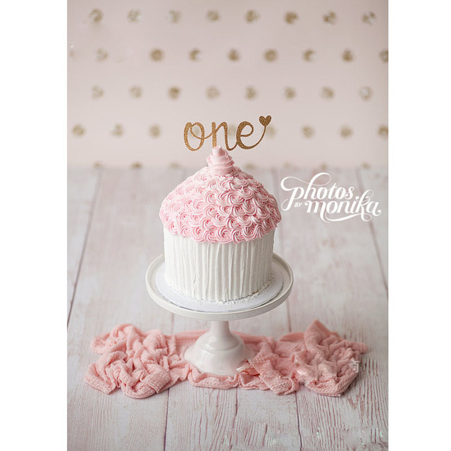 24pcs Glitter One Cake Topper First Birthday Girl Cake Decoration
