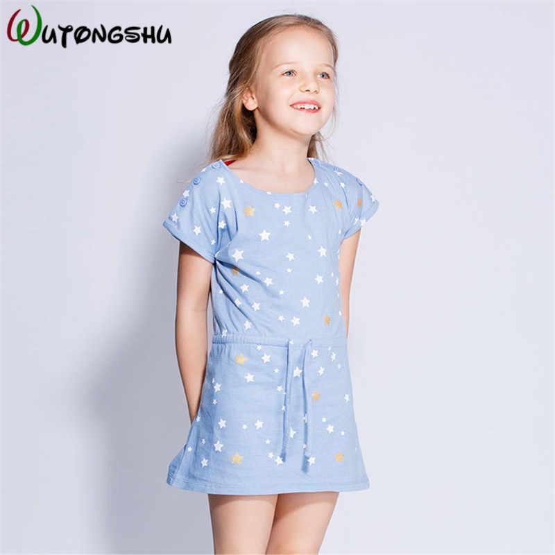 Модное летнее платье для девочек, 2018 повседневные платья для девочек, хлопковая Спортивная одежда для девочек, одежда для маленьких девочек, детская одежда для От 1 до 8 лет