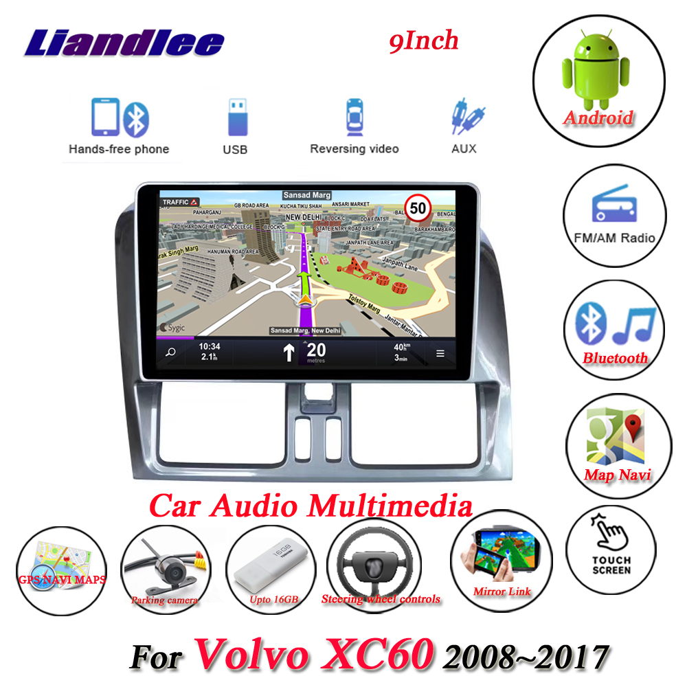 Liandlee Car Android System For Volvo XC60 2008~2017 With Aux Radio GPS Navi MAP Navigation HD Screen Multimedia No DVD Player