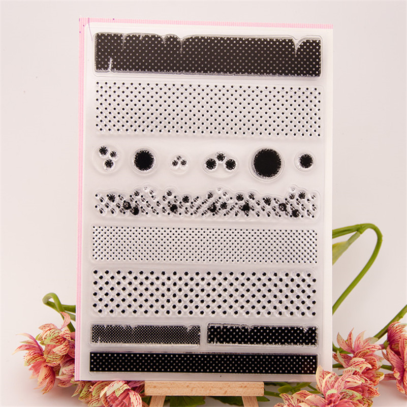 About shading design Transparent Clear Stamp DIY Silicone Seals Scrapbooking Card Photo Album Decor for wedding gift CC-051 100