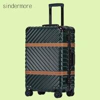 Hardside Bagaj Bavul Haddeleme 20 Carry 24 26 29 Kontrol Bagaj Alüminyum Çerçeve PC Bagaj Seyahat Arabası Bavul Tekerlekler