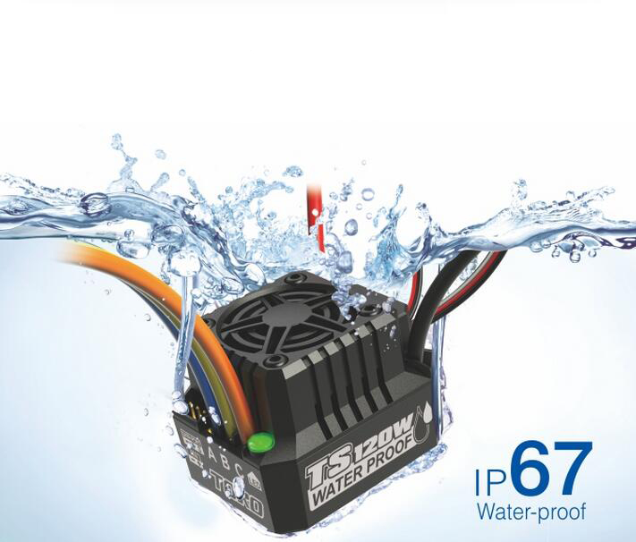 Free Shipping TORO TS120W Water-proof ESC for 1/10 RC Car support 2-3S free shipping feike da skyrc toro 8s 150a model car brushless esc electronic speed control