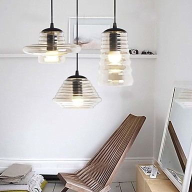Edison Bulb Loft Style Vintage Pendant Industrial Light Lamp With 3 Lights  For Dining Room nordic american edison bulb loft industrial glass stone point ceiling lamp vintage pendant lights cafe bar dining room light