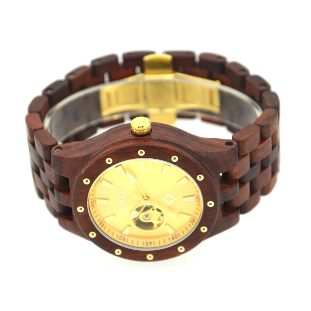 BEWELL Automatyczne zegarki mechaniczne Najlepsze marki Luksusowe - Męskie zegarki - Zdjęcie 5