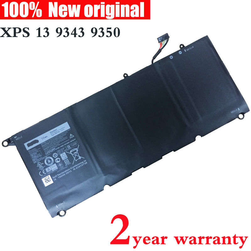 ФОТО Original Laptop battery for DELL XPS 13 9343 9350 1708 90V7W 5K9CP DIN02 JD25G 0N7T6 RWT1R XPS13D-9343-1708 XPS13D-9343-1508