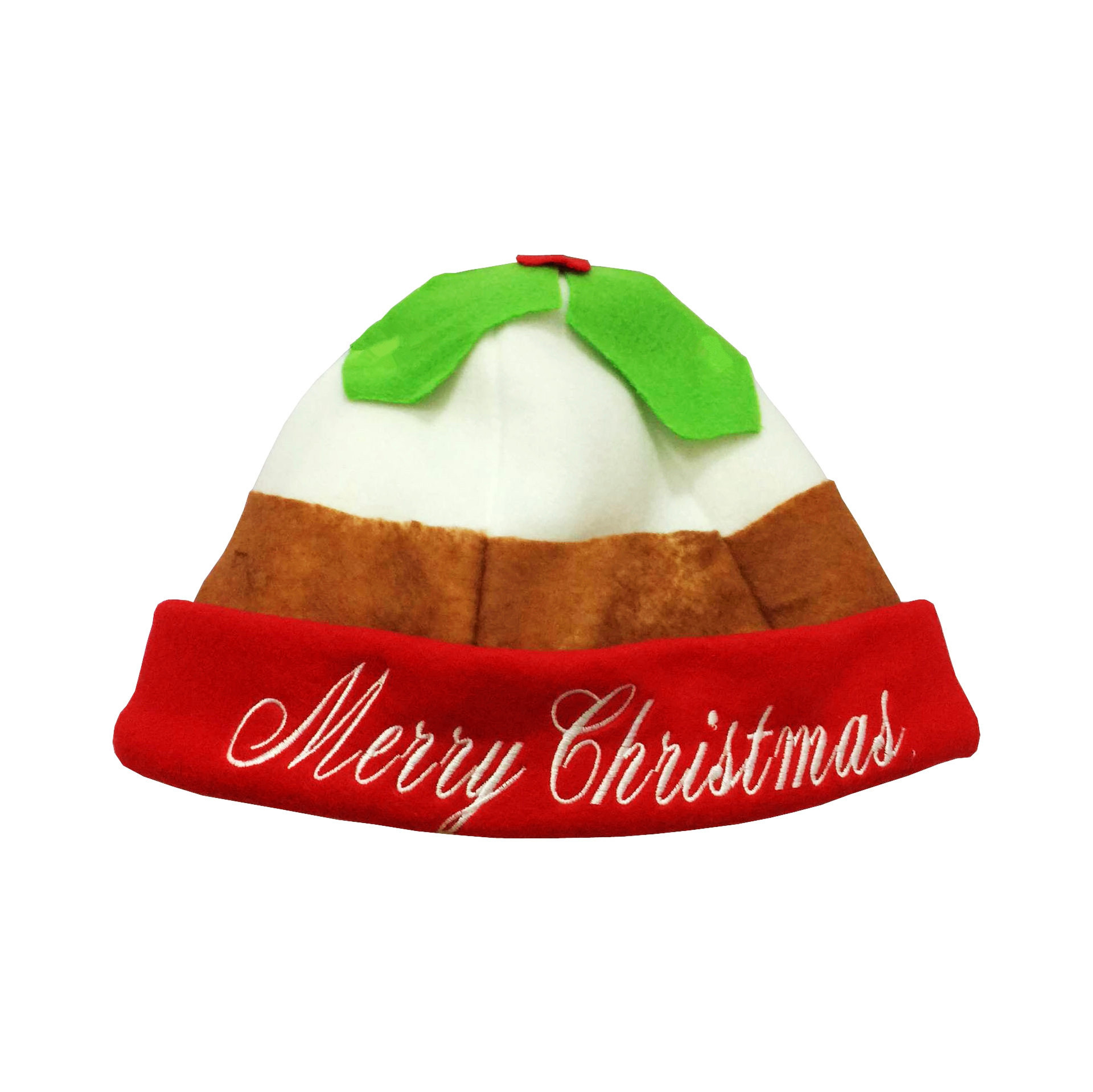 2017 New Christmas Hats Embroidered Merry Christmas Caps Cute Cake Hat For Adult XMAS Decor New Year