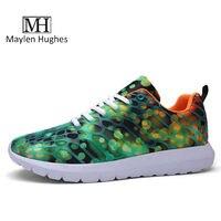 MH Camuflaje 3D Color Zapatos Casuales de Malla Transpirable Zapatos de Las Mujeres de Primavera y Verano Resistente al Desgaste Zapatos con cordones zapatos 36-44