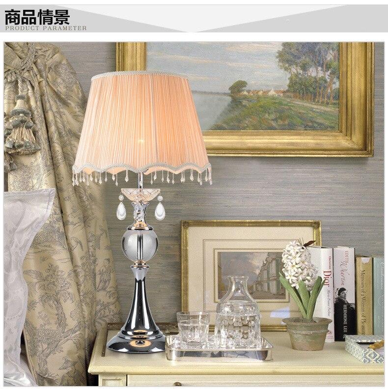 Туда 38x68 см Бесплатная доставка Элегантные Дизайн K9 Кристалл Настольная лампа для Спальня гостиная классическая настольная лампа home Decor E27