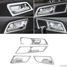 цена на 4 Pcs LHD Chrome Inside Door Handle Frame Trim Cover For Kia Sportage QL 2016 2018 Styling Interior Decoration Accessories