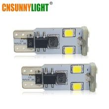 CNSUNNYLIGHT Super Bright T10 W5W LED Bulbs 194 168 2835 6SMD Canbus No Error 12V Car Auto Bulbs Indicator Light Parking Lamp