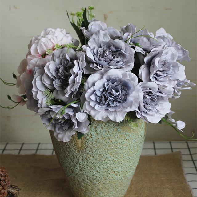 สวยงามขนาดเล็ก rose bouquet ดอกไม้ประดิษฐ์ผ้าไหมสำหรับตกแต่งบ้าน mariage babyshower flores artificiales
